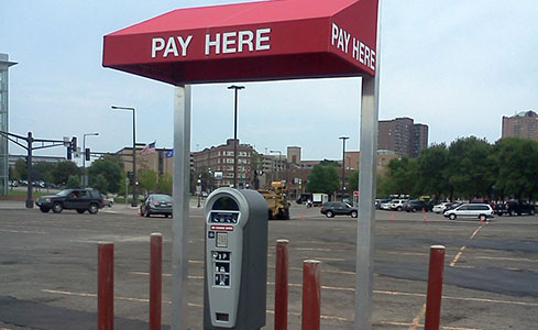 Commercial Pay Station & Signage