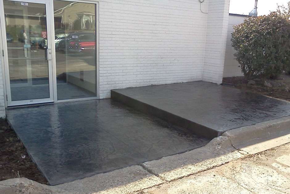 Stamped & Stained Concrete Patio & Sidewalk