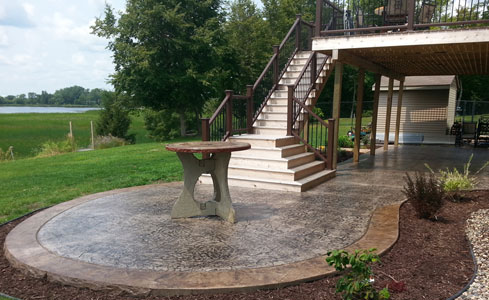 Stamped & Stained Concrete Patio