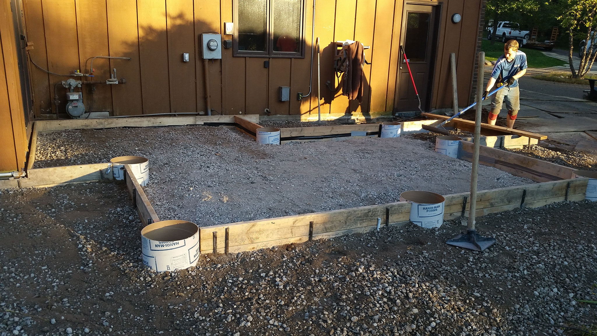 Concrete & Stone Patio with Foundation