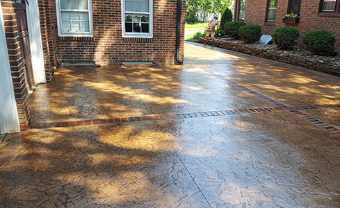 Stained & Stamped Driveway, Sidewalk & Steps