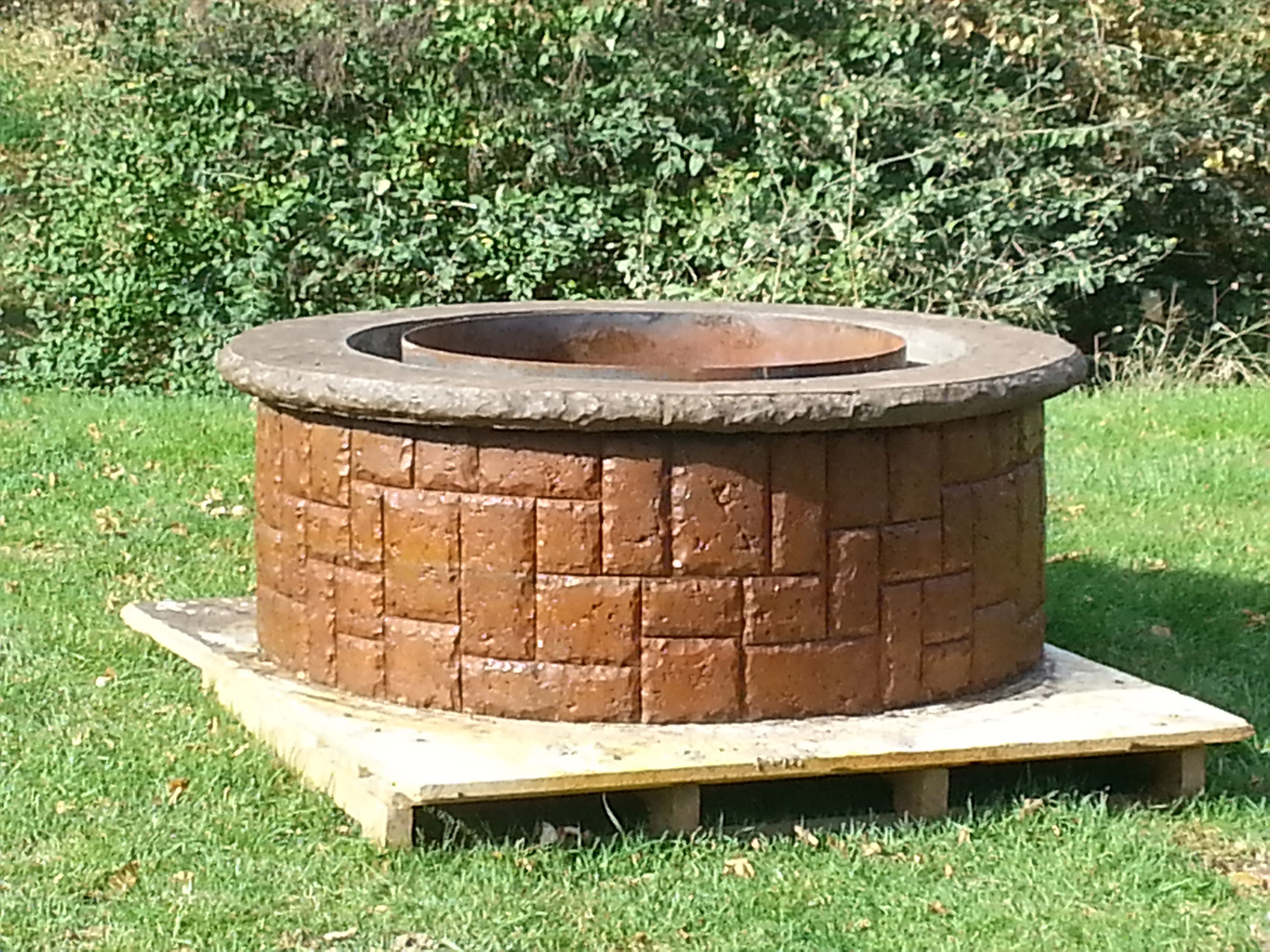 Stained & Stamped Concrete Firepit