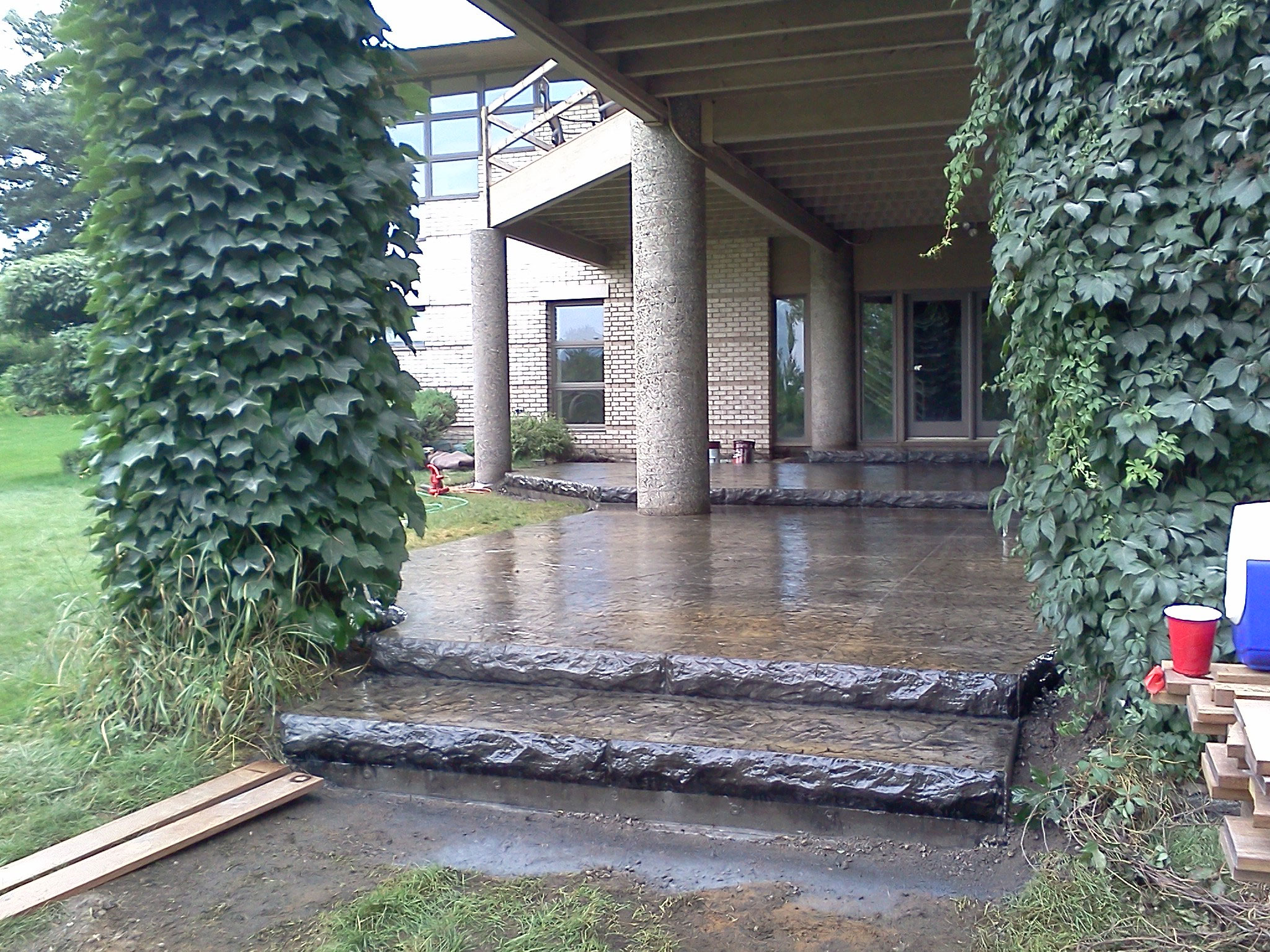 Stamped Colored Concrete Steps
