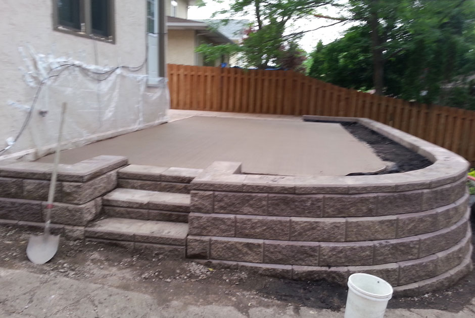 Brick Retaining Wall & Steps