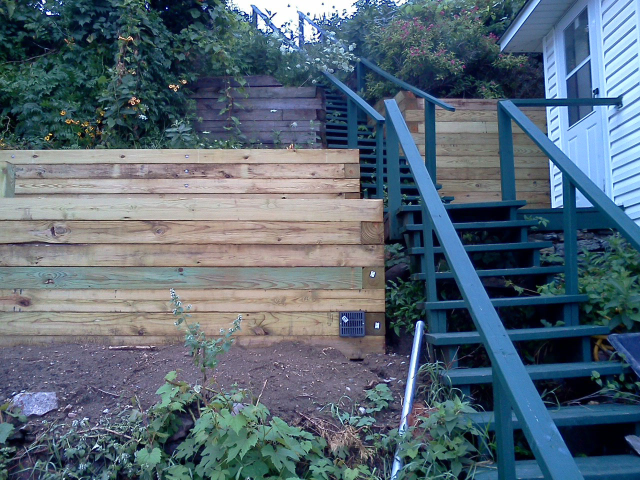 Wood Retaining Wall